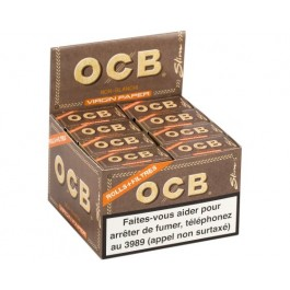 Boite de 16 rolls+tips OCB virgin