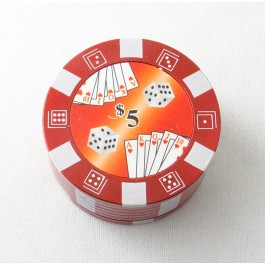 Grinder jeton de casino rouge diamètre 51mm