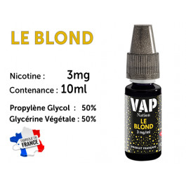E-liquide VAP NATION  le blond 3 mg/ml de nicotine