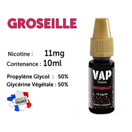 E-liquide Vap Nation fruits rouges 11mg/ml de nicotine