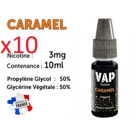 E-liquide VAP NATION caramel 3 mg/ml de nicotine