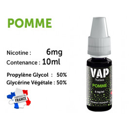 Vap Nation pêche  6mg/ml de nicotine.