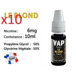 Vap Nation le blond 6mg/ml de nicotine.