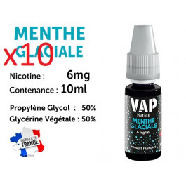 Vap Nation menthe glaciale  6mg/ml de nicotine.