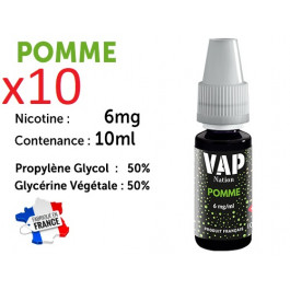 Vap Nation pomme  6mg/ml de nicotine.