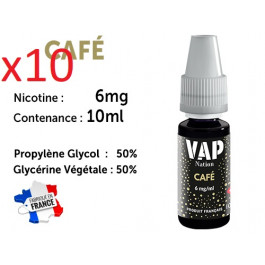 Vap Nation café  6mg/ml de nicotine.