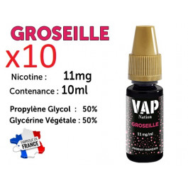 E-liquide Vap Nation groseille  11mg/ml de nicotine
