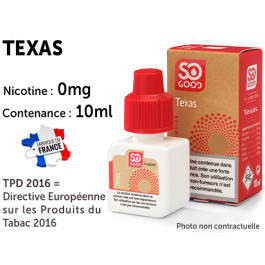 E-liquide SO GOOD SAHARA 0 de nicotine