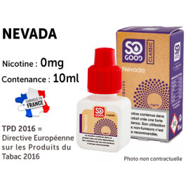 E-liquide SO GOOD TEXAS 0 de nicotine