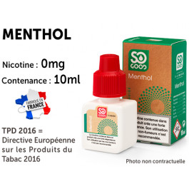 E-liquide SO GOOD menthe 0 de nicotine