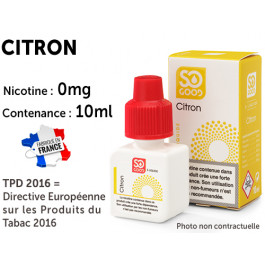 E-liquide SO GOOD cerise 0 de nicotine