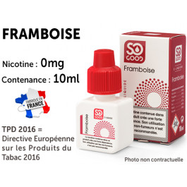 E-liquide SO GOOD fraise 0 de nicotine