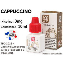 E-liquide SO GOOD café 0 de nicotine