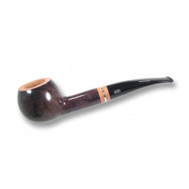Pipe Chacom The French pipe droite, fond plat sablé noire N°5