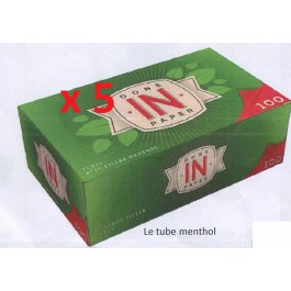 Tube menthol IN X 5