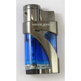 Briquet Silver Match Fair lop bleu