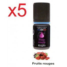 5 flacons silver cig fruit rouge 6 nicotine