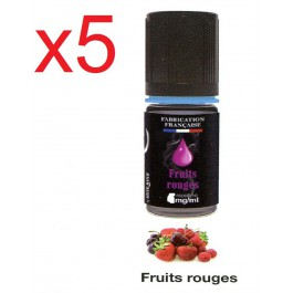 5 flacons silver cig fruit rouge 0 nicotine