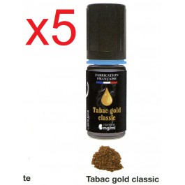 5 flacons silver cig tabac gold classic en 0 nicotine