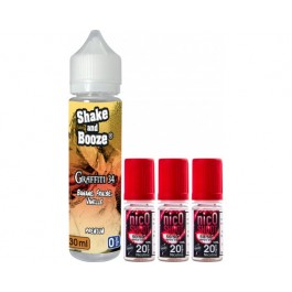 E-liquide SHAKE and BOOZE Graffiti 30ml + 3 nicoshoot 10ml.